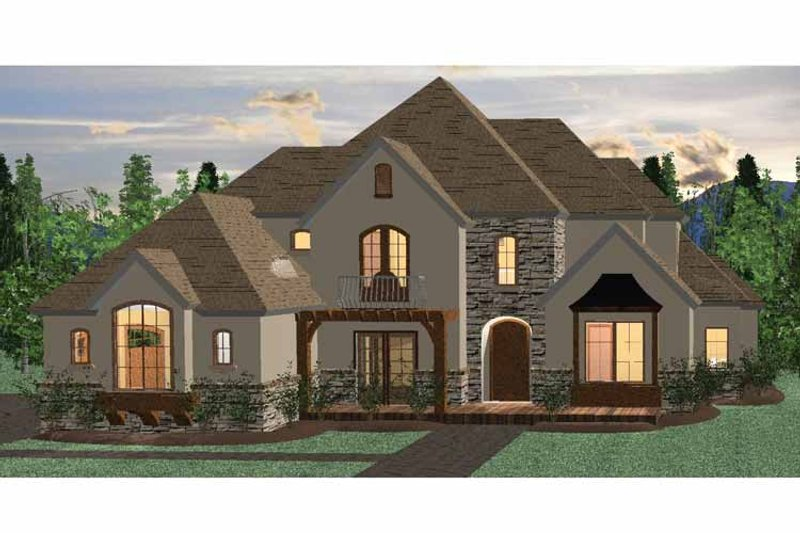 Architectural House Design - Country Exterior - Front Elevation Plan #937-33
