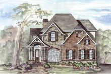 House Plan Design - Craftsman Exterior - Front Elevation Plan #54-312
