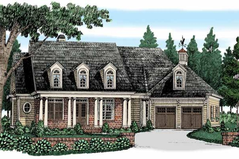 Colonial Exterior - Front Elevation Plan #927-525
