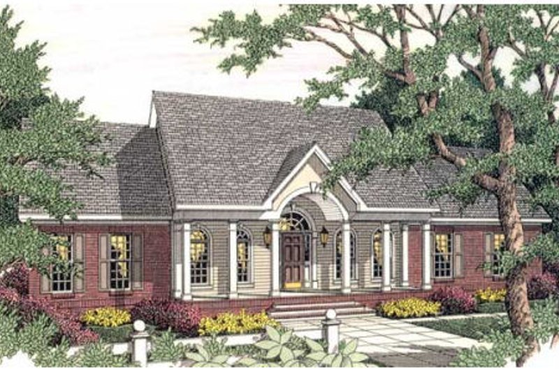 Dream House Plan - Colonial Exterior - Front Elevation Plan #406-273