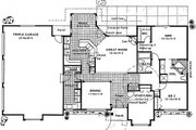 Ranch Style House Plan - 3 Beds 2.5 Baths 1772 Sq/Ft Plan #126-186 Floor Plan - Main Floor
