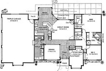 Ranch Floor Plan - Main Floor Plan Plan #126-186