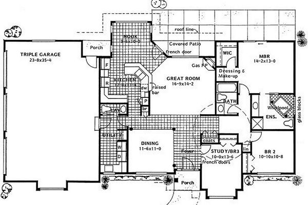 Ranch Floor Plan - Main Floor Plan #126-186
