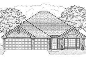 Traditional Exterior - Front Elevation Plan #65-440