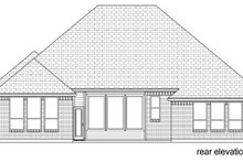 Home Plan - Traditional Exterior - Rear Elevation Plan #84-588