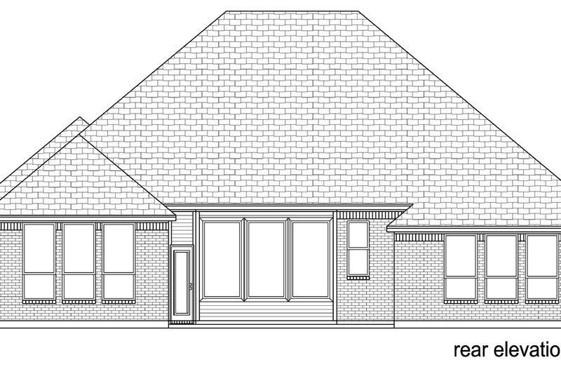 Traditional Exterior - Rear Elevation Plan #84-588 - Houseplans.com