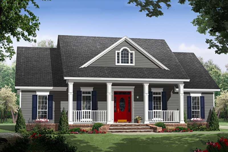 House Plan Design - Country Exterior - Front Elevation Plan #21-394