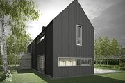 Modern Style House Plan - 3 Beds 2.5 Baths 1752 Sq/Ft Plan #552-3 Exterior - Other Elevation