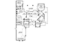 Contemporary Floor Plan - Main Floor Plan Plan #930-17