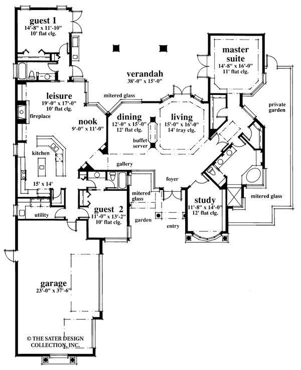 Dream House Plan - Contemporary Floor Plan - Main Floor Plan #930-17