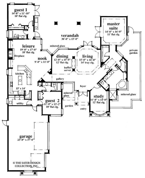 Contemporary Floor Plan - Main Floor Plan #930-17