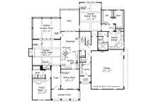Traditional Floor Plan - Main Floor Plan Plan #927-6