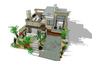 Modern Style House Plan - 3 Beds 3.5 Baths 1845 Sq/Ft Plan #484-2 Exterior - Other Elevation