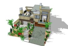 Dream House Plan - Modern Exterior - Other Elevation Plan #484-2