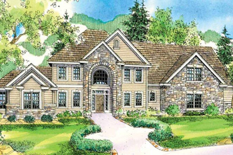 Dream House Plan - European Exterior - Front Elevation Plan #124-735
