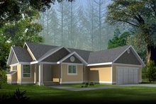 Architectural House Design - Ranch Exterior - Front Elevation Plan #100-410
