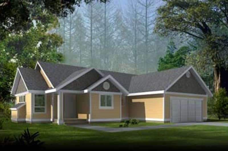 Ranch Exterior - Front Elevation Plan #100-410