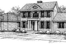 House Design - Colonial Exterior - Front Elevation Plan #124-213