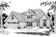 Traditional Style House Plan - 3 Beds 2.5 Baths 2176 Sq/Ft Plan #20-383 Exterior - Front Elevation