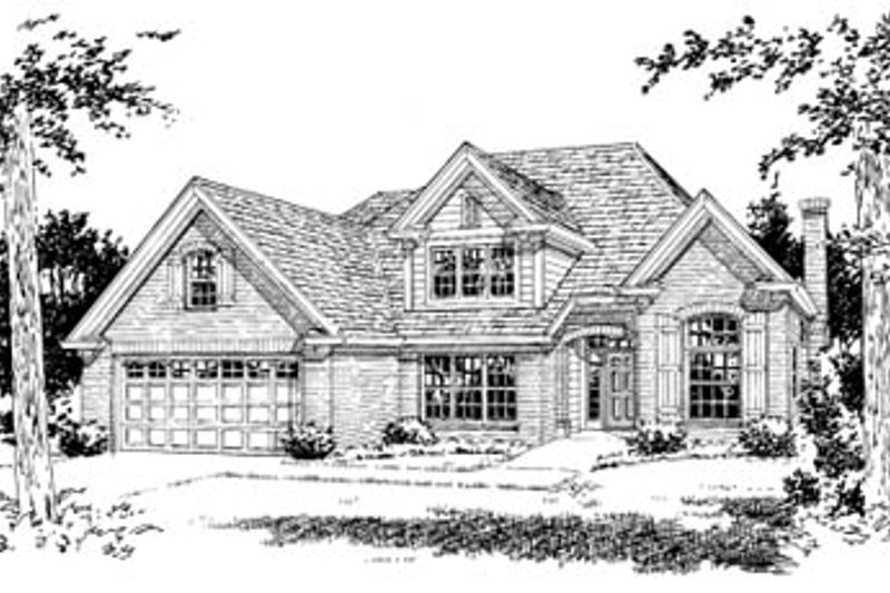 Home Plan Design - Traditional Exterior - Front Elevation Plan #20-383