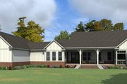 Country Style House Plan - 4 Beds 4 Baths 3671 Sq/Ft Plan #63-413 Exterior - Rear Elevation