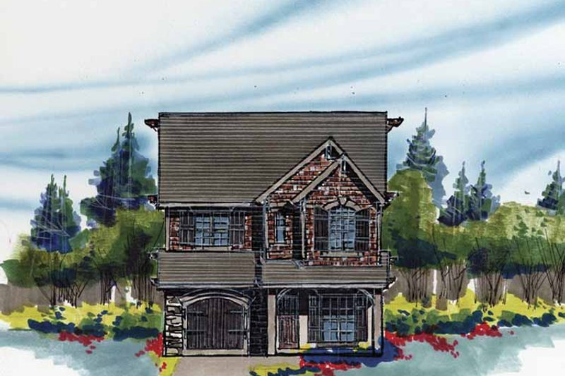 Traditional Exterior - Front Elevation Plan #509-206