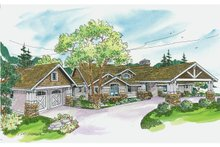 Craftsman Exterior - Front Elevation Plan #124-704