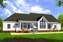 House Plan Design - Farmhouse Exterior - Rear Elevation Plan #21-107