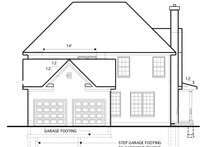 House Plan Design - Colonial Exterior - Rear Elevation Plan #1053-51