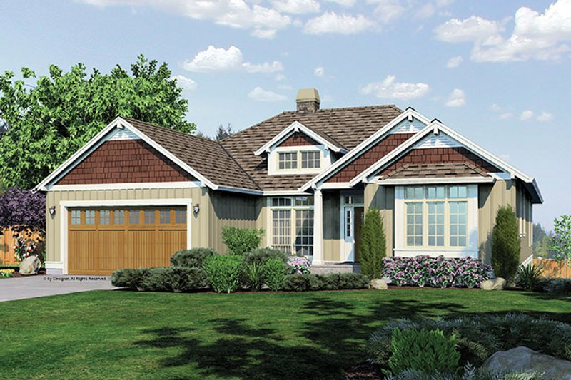 Traditional Exterior - Front Elevation Plan #48-860 - Houseplans.com