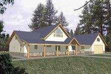 House Plan Design - Country Exterior - Front Elevation Plan #117-816