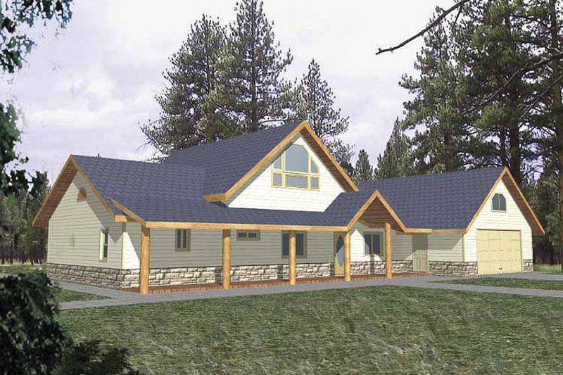 Country Exterior - Front Elevation Plan #117-816 - Houseplans.com