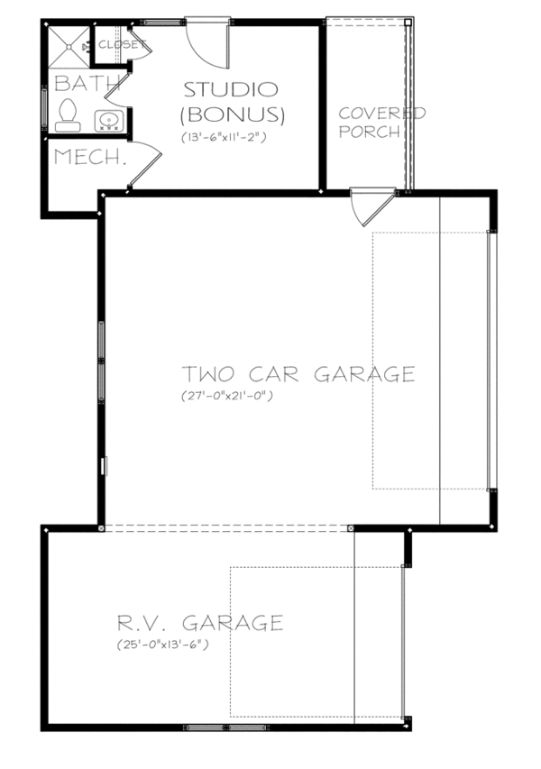 Ranch Floor Plan - Other Floor Plan Plan #895-76