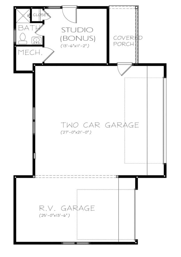 Ranch Floor Plan - Other Floor Plan Plan #895-76