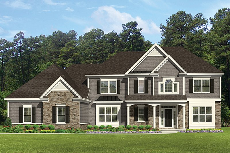 Colonial Exterior - Front Elevation Plan #1010-177