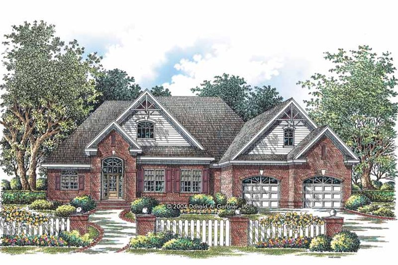 Ranch Exterior - Front Elevation Plan #929-733