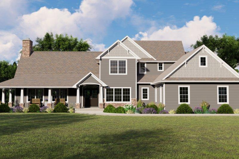 Dream House Plan - Cottage Exterior - Front Elevation Plan #1064-67