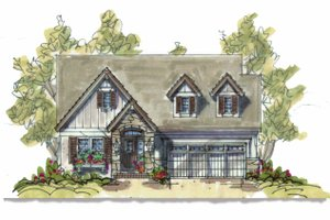 Country Exterior - Front Elevation Plan #20-1211