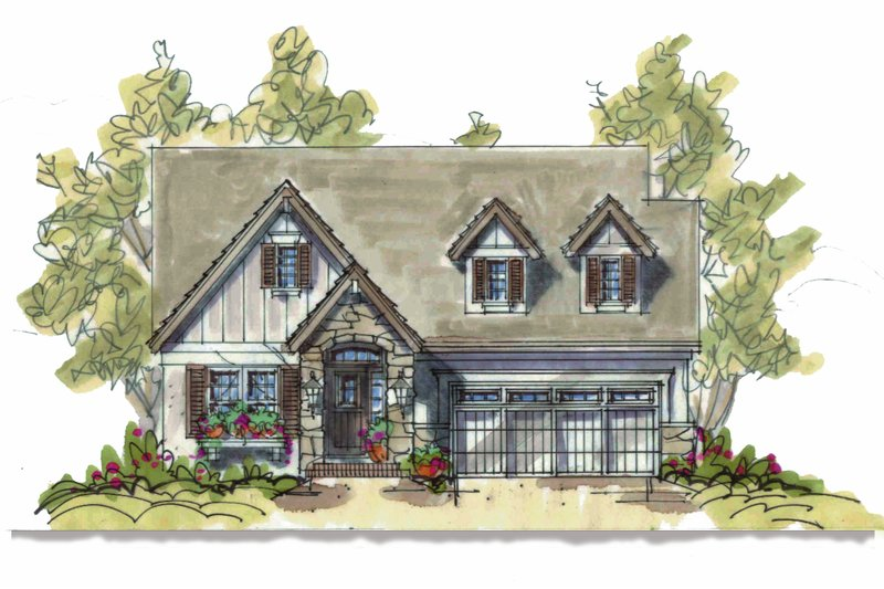 Country Style House Plan - 2 Beds 2 Baths 1556 Sq/Ft Plan #20-1211