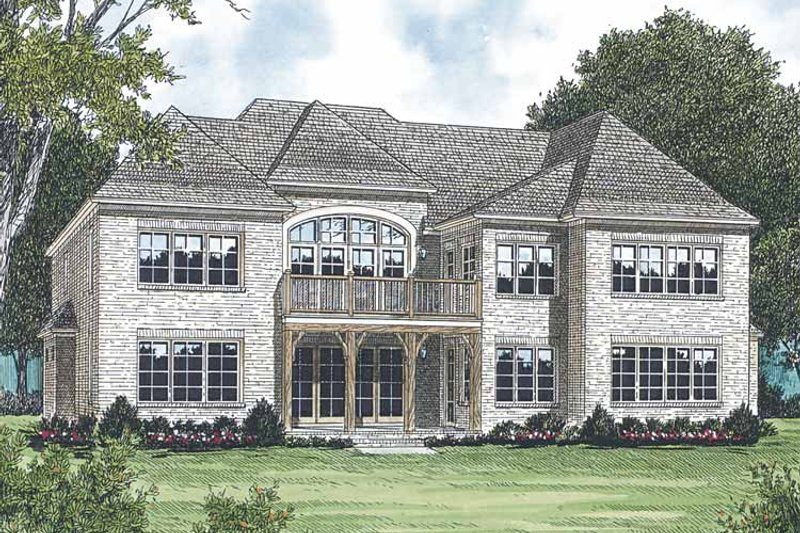 Traditional Exterior - Rear Elevation Plan #453-589 - Houseplans.com