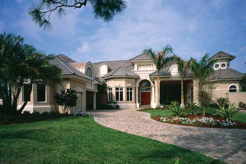 House Plan Design - Mediterranean Exterior - Front Elevation Plan #930-320