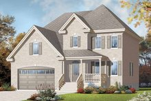 House Plan Design - European Exterior - Front Elevation Plan #23-2370
