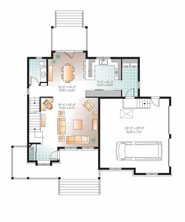 Country Floor Plan - Main Floor Plan Plan #23-2558