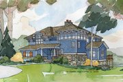 Craftsman Style House Plan - 4 Beds 2.5 Baths 3203 Sq/Ft Plan #928-18 Exterior - Front Elevation