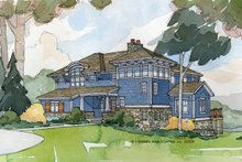 Craftsman Exterior - Front Elevation Plan #928-18