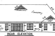 Dream House Plan - Traditional Exterior - Rear Elevation Plan #34-142