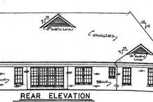 House Plan Design - Traditional Exterior - Rear Elevation Plan #34-142