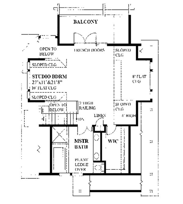 Cottage Floor Plan - Upper Floor Plan Plan #118-134
