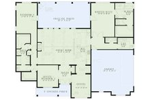 European Floor Plan - Main Floor Plan Plan #17-3383