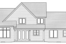 House Plan Design - Traditional Exterior - Rear Elevation Plan #46-850